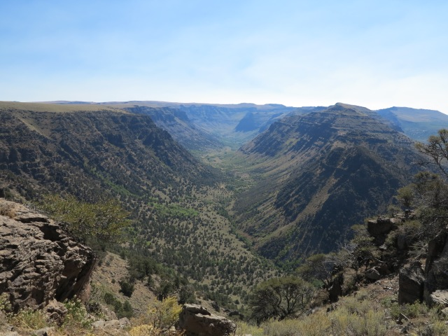 One of the many canyons