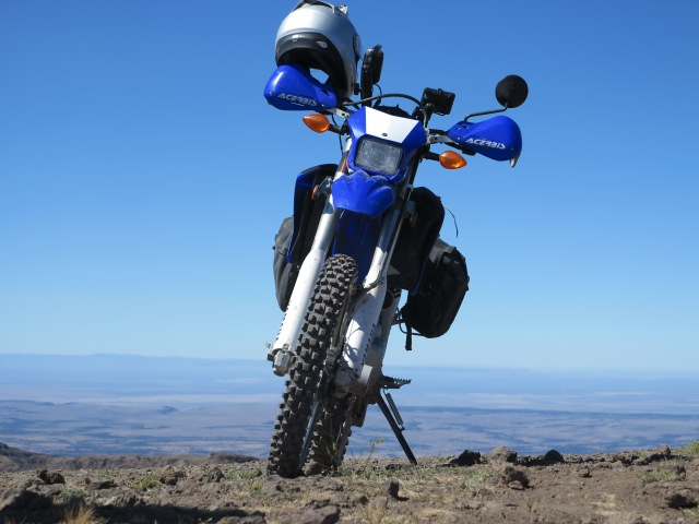 The WR250R on the top of the mountain