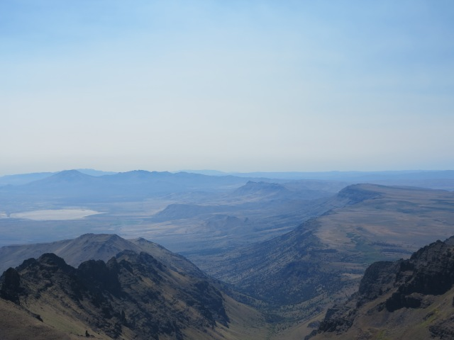 Looking towards the south, from the Summit of the Steens Mountain