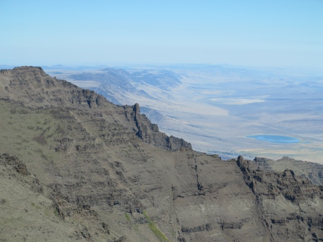 View from the Summit of the Steens Mountain, looking north, northeast.