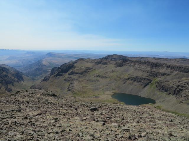 Wildhorse Lake and beyond towards Nevada