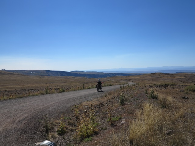 Going down on the north road of the Steens Loop