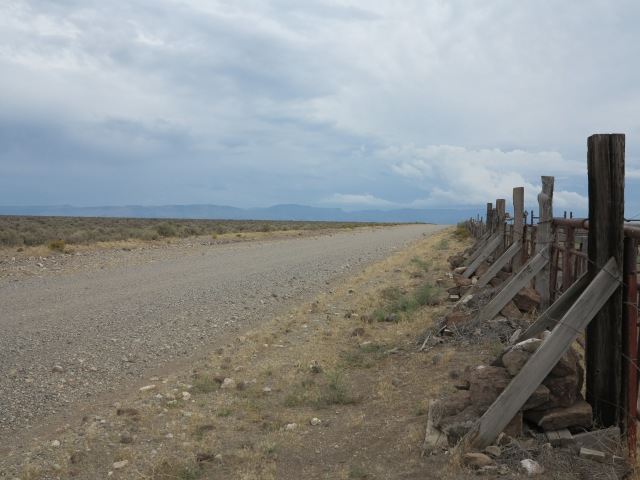 The corral alongside Hogback road. Looking east.