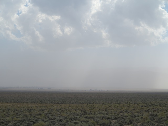 Summer Lake area, and sand storm