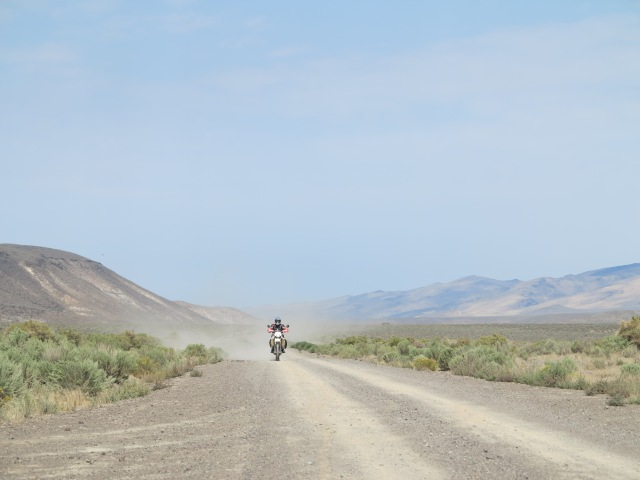 Rincon Flat turns into dirt highway before reaching Nevada. Lone Mt. Loop, 2013 edition