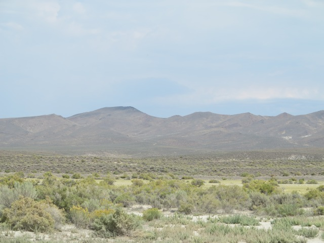 Pueblo Mountains, looking n the general direction where the remains of B-24 are located