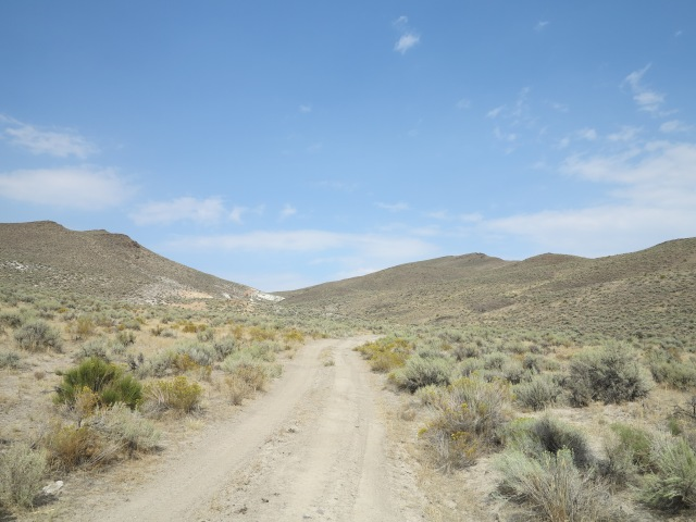 Road climbing the Pueblo Mountains