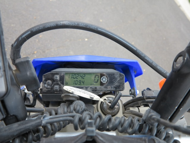 From Fields to Fields, 109 miles for the Lone Mountain Loop, as measured by the WR250R's odometer