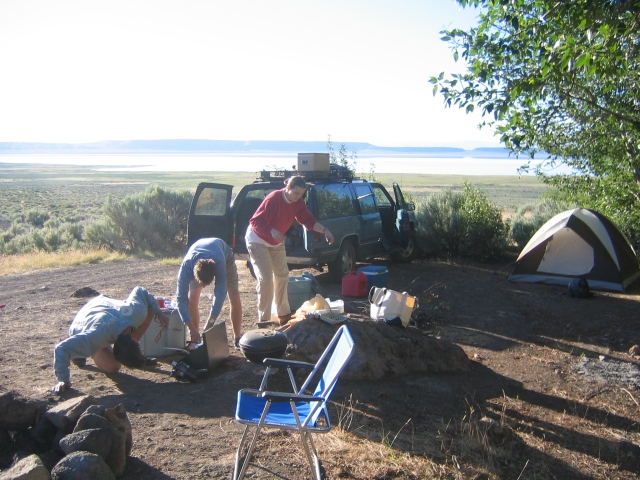 The Suburban at the Alvord desert/lake.  June 2006
