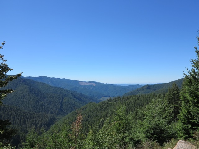 View from one of the passes on Sharps Creek Rd