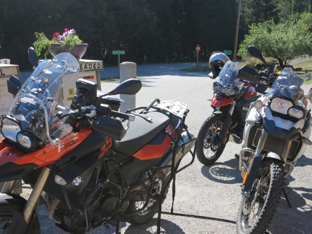 Daily Ritual: Fueling the bikes at the Dry Creek store.