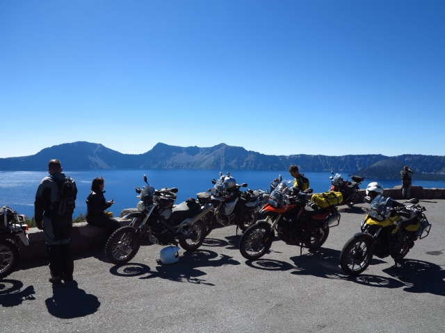 One of the many stops around Crater Lake