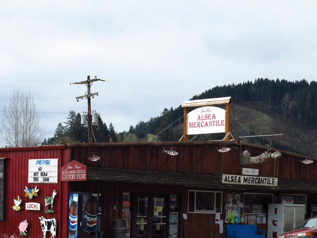 Alsea Mercantile, in Alsea, of course.