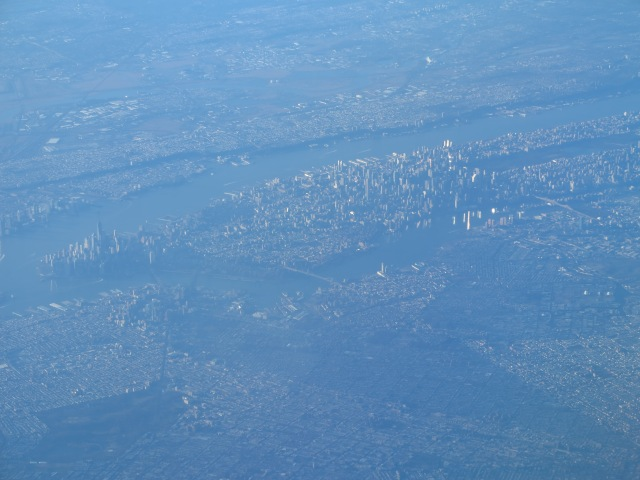 View of Manhattan on flight DC to Hartford, CT