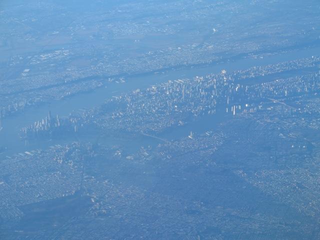 View of Manhattan on flight DC to Hartford, CT