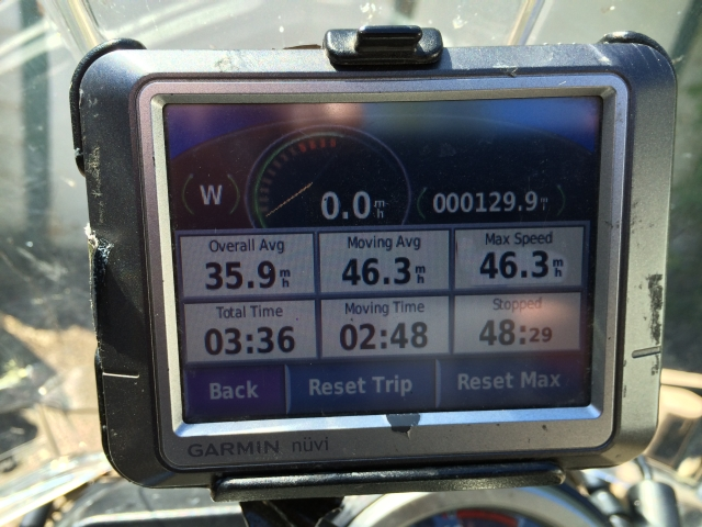 About 130 miles (207 Km)