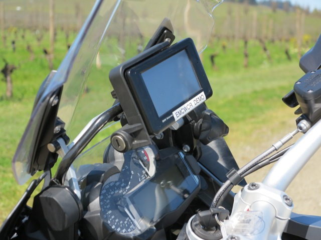 GPS set up from BMW, with lockable base