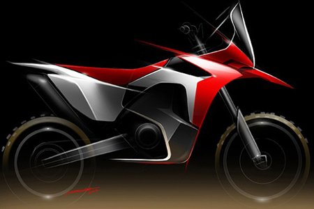One of the three types of images that have been  sketched by motorcycle journalists for the new Africa Twin