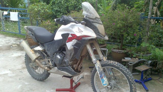 Hnda CB500X modified for off road