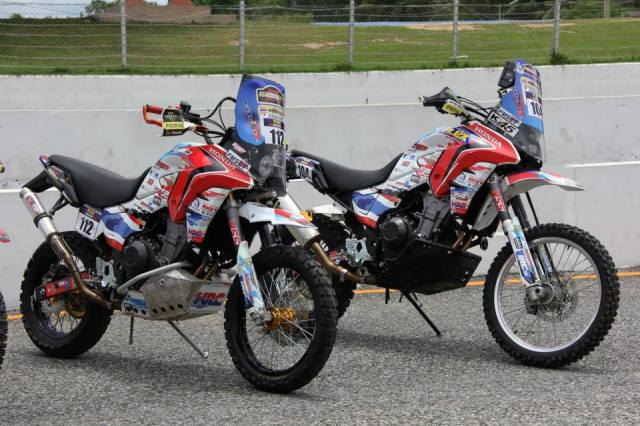 Thai HRC team's CB500X Rally, with 19 and 21 in front wheel versions