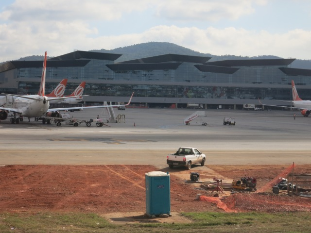 New Terminal at Garulhos Airport, supposed to have been functional by May 25th