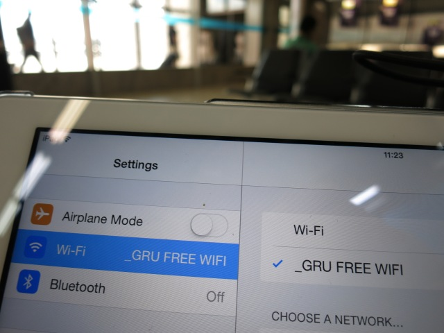 Free wireless in Guarulhos (GRU) at last! And hopfully for after the cup as well! May 2014
