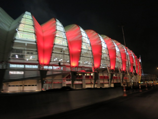Beira Rio Stadium, still under construction, Poerto Alegre, May 16th, 2014
