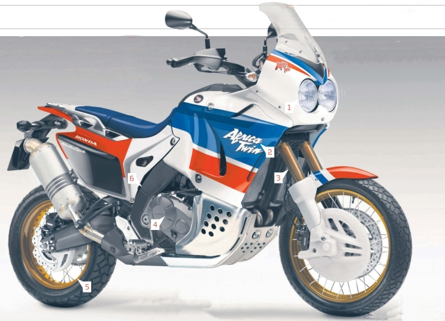 MCN's rendition of the New Africa Twin. Can you spot the differences?