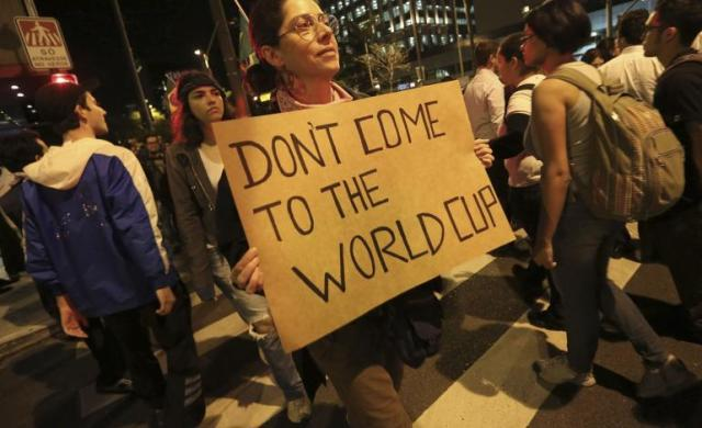 Brazilians asking tourists do not come to the Wrld Cup