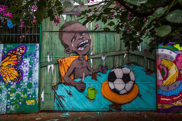 One of a series of graffitti with World Cup themes