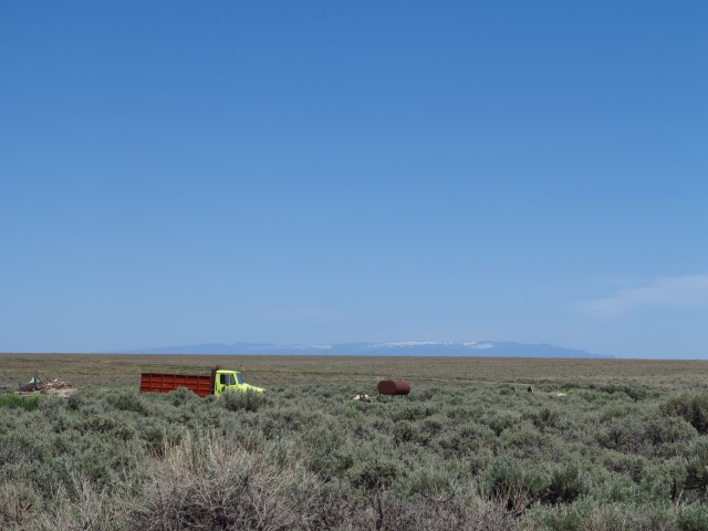 The Steens, some 50 miles away.