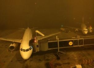 Porto Alegre Airport (Salgado Filho) closed due to fog, two days before world cup starts (Photo from ZH)