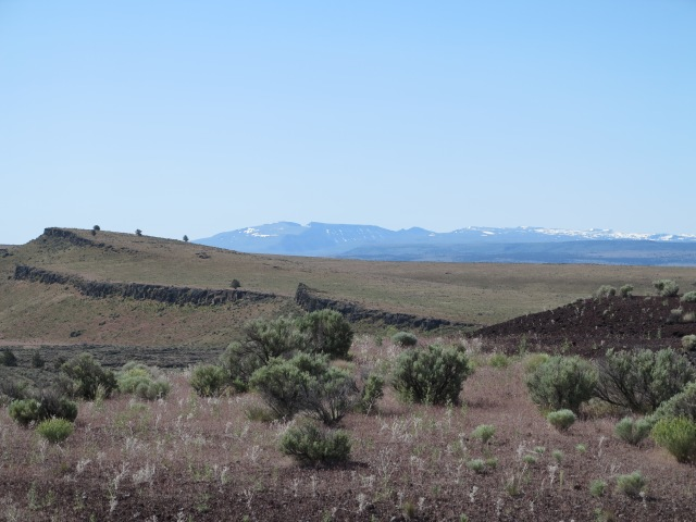 "One of the several ""last views"" of the Steens."