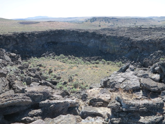 One of the craters