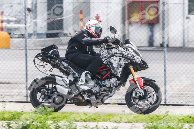 Spy photos claimed to be of the 2015 Multistrada