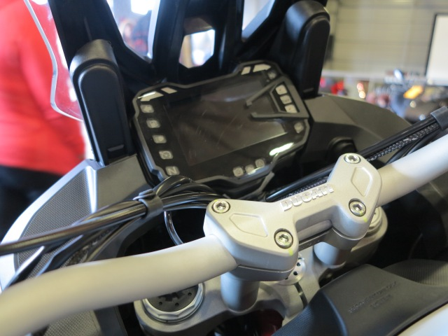 New TFT color display for the 2015 Multistrada