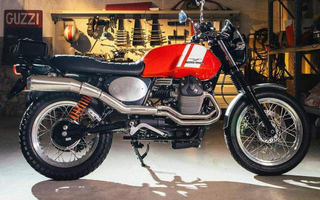 2015 Moto Guzzi V7 II with  Scrambler Kit