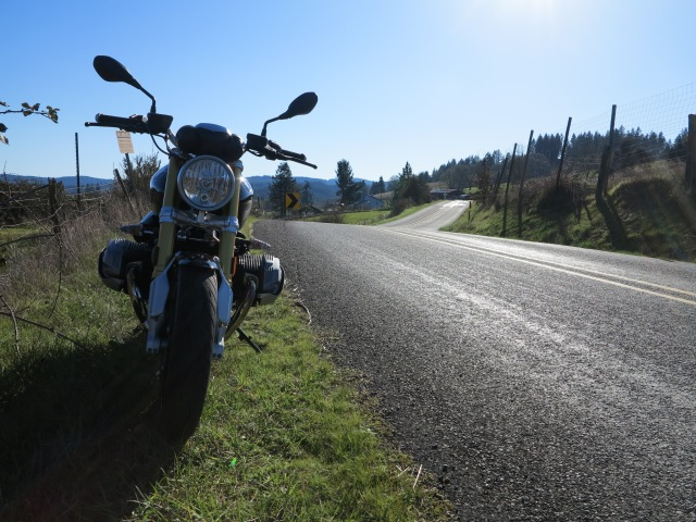 Riding the R NineT, April 2015