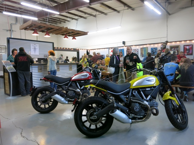 Scrambler Ducatis at European Motorcycles of Western Oregon