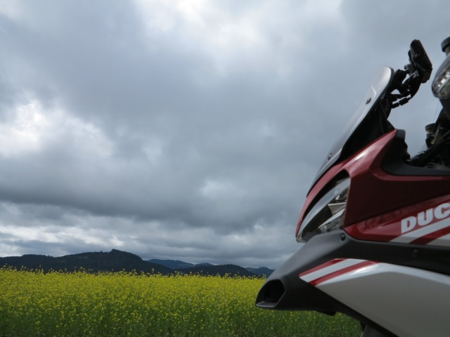 A spring ride with the Multistrada