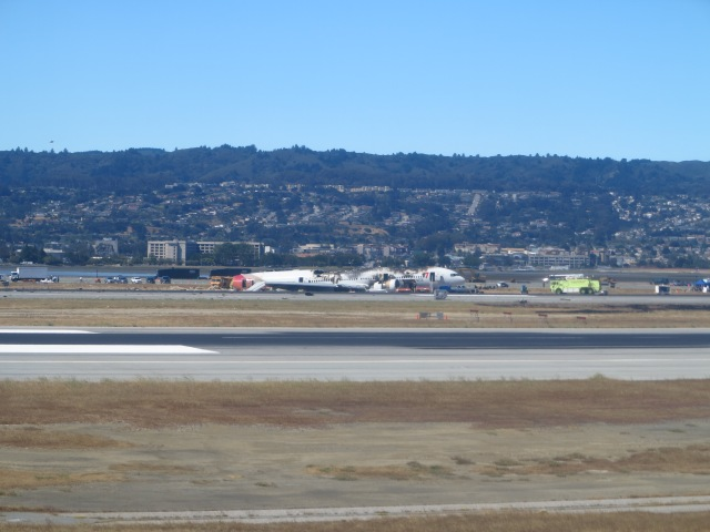 Seeing the Asiana 777 crash site, at San Francisco Airport