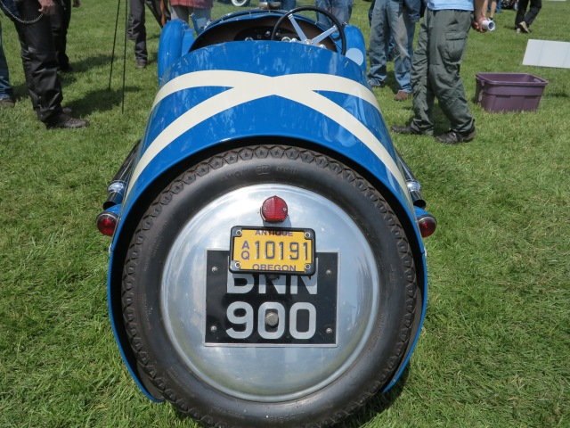 A view from the back of the 1935 Morgan SS