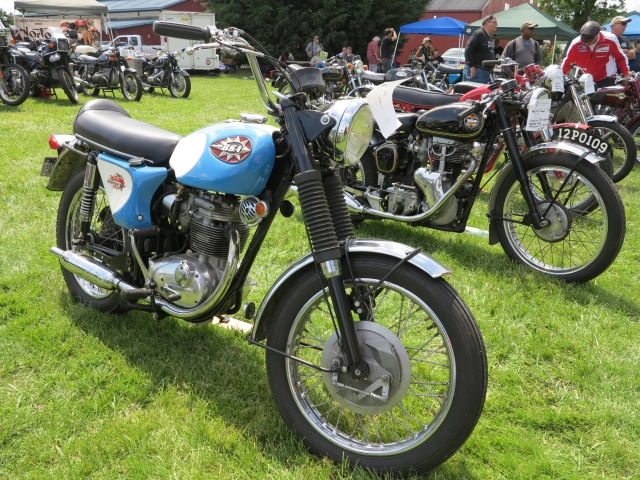 A BSA and a Velocette
