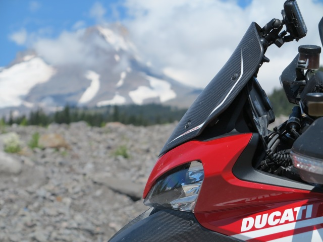 The Multistrada and Mount Hood