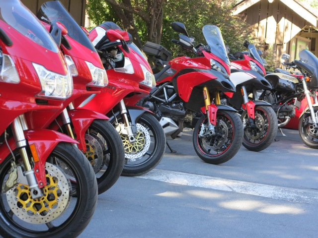 Ducatis in Graeagle, June 2014