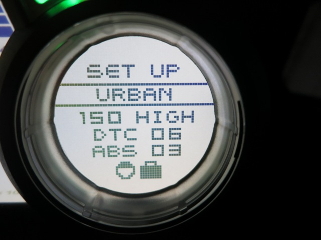 Even Urban setting is kept at 150 HP with the High acceleration on my bike