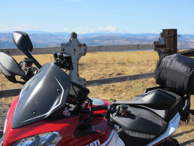 Ducati on Hwy 14, Washington State. September 2015