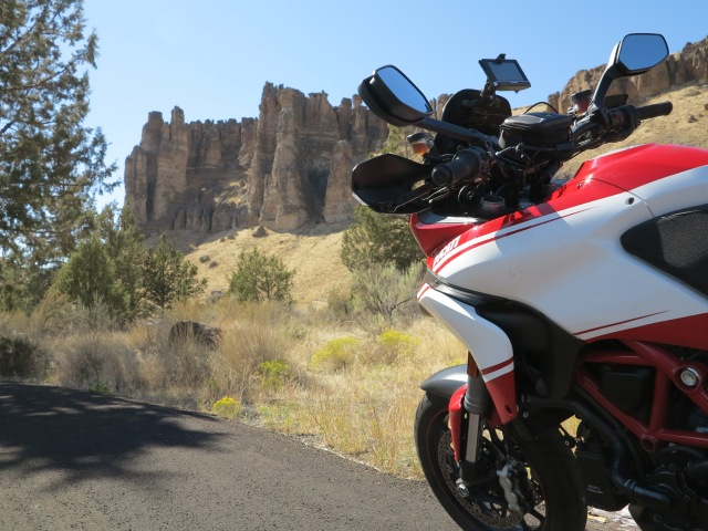 The Multistrada near Fossil, Oregon. September 2015.