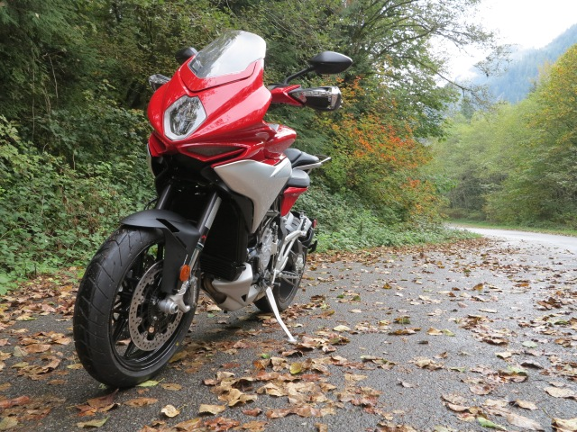 MV Agusta Turismo Veloce in the Washington Cascades, October 2015