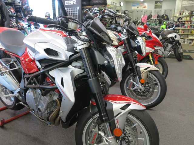 Diversified line, Brutale and Stradale models at the Bellevue MV Agusta shop